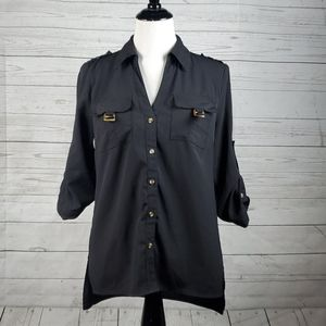 Willi Smith black button up top